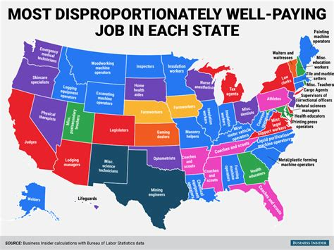 High paying jobs state map   Business Insider
