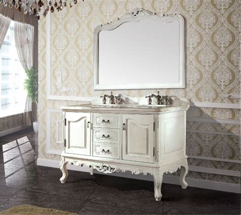 High quality antique bathroom cabinet with mirror and sink ...