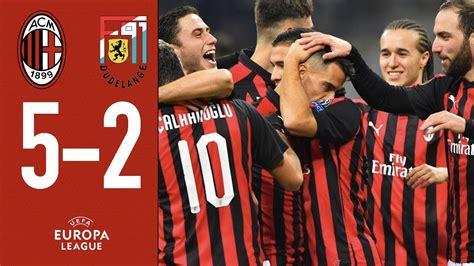 Highlights AC Milan 5 2 F91 Dudelange   Matchday 5 Europa ...