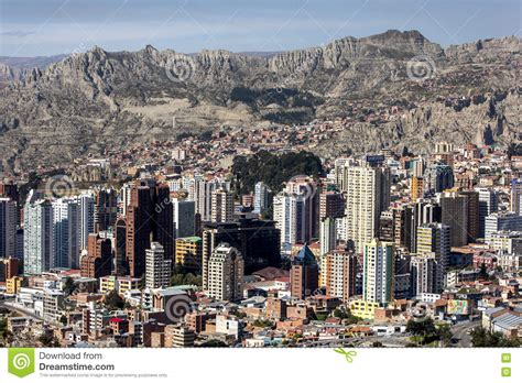 Highrise Buildings Dominate The Spectacular La Paz Skyline ...