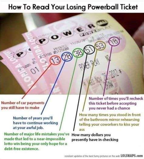 Hilarious: How to Read a Losing Powerball Ticket