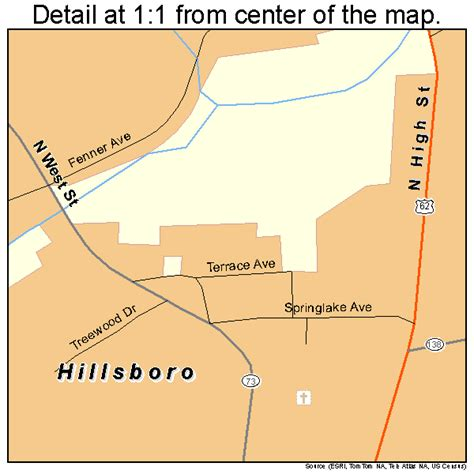 Hillsboro Ohio Street Map 3935560