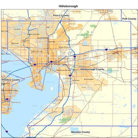 Hillsborough County, FL Map | Florida Map   Map of Florida ...