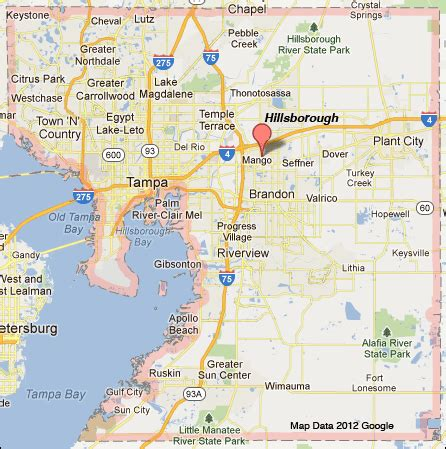 Hillsborough County Florida map