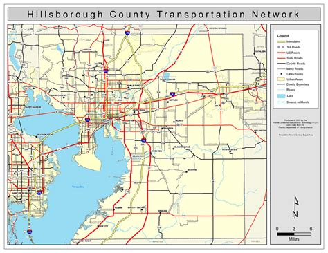 Hillsborough County Road Network  Color, 2009