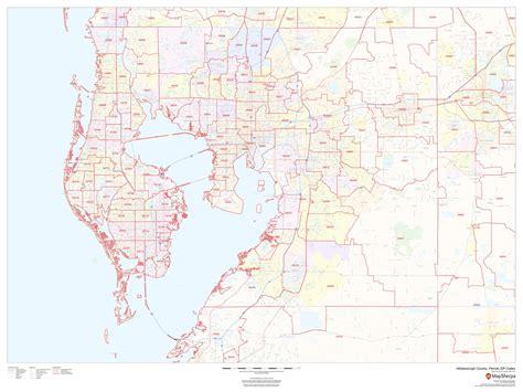 Hillsborough County ZIP Code Map