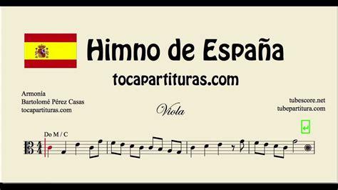 Himno de España Partitura de Viola en Clave de Do Marcha ...