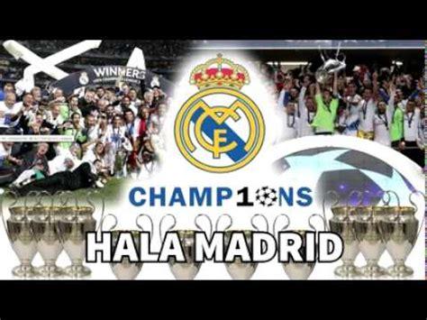 Himno de la Décima Nuevo Himno del Real Madrid  Hala ...