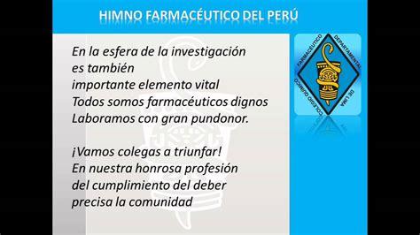 Himno Farmacéutico del Perú  Oficial cantado en Letras ...