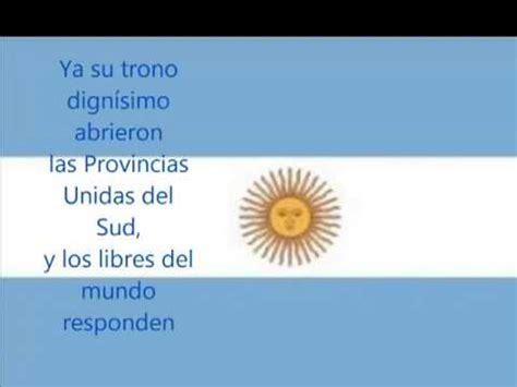 Himno Nacional Argentina Letra High   YouTube