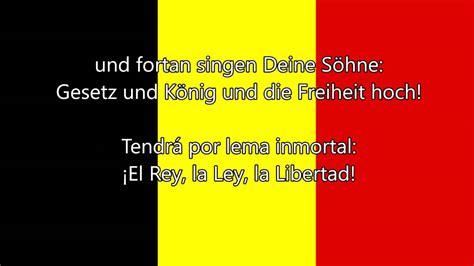 Himno nacional de Bélgica   La Brabanzona  FR/NL/DE/ES ...