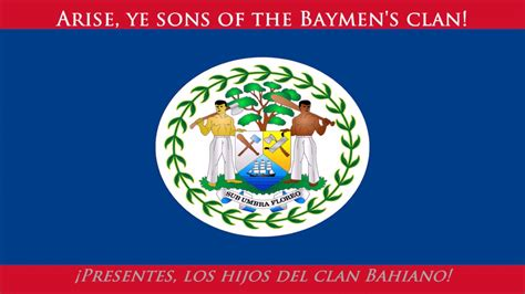 Himno nacional de Belice  EN/ES letra    Anthem of Belize ...