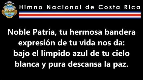 Himno Nacional de Costa Rica   YouTube