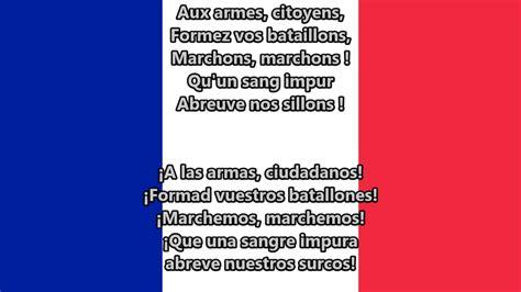Himno nacional de Francia   La Marsellesa  FR, ES lyrics ...