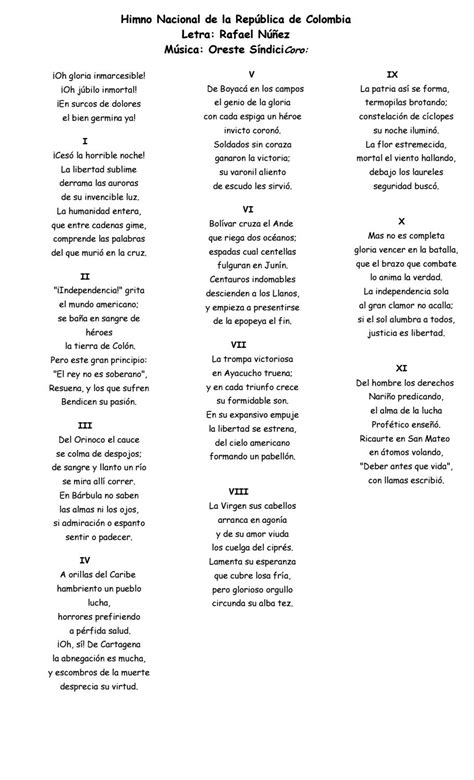 Himno Nacional de la República de Colombia by Esteban ...