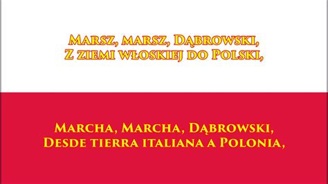 Himno nacional de Polonia  PL/ES Letra    Anthem of Poland ...
