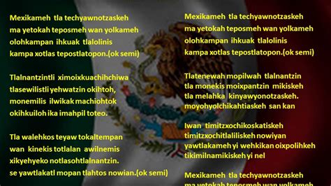 Himno nacional en nahuatl   YouTube