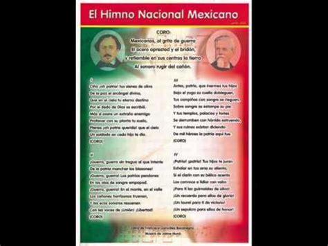 Himno Nacional Mexicano Pista Oficial   YouTube