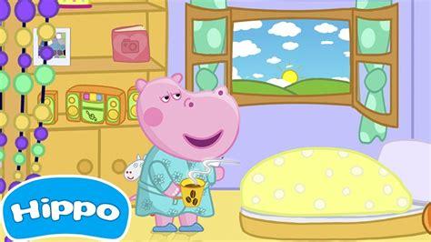 Hippo  Historias de niños Buenos días Juego de dibujos ...