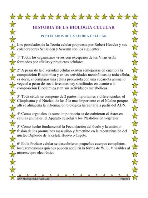 Historia de La Biologia Celular @Nit@ | Núcleo celular ...
