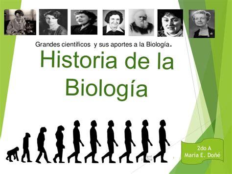 Historia de la biología.