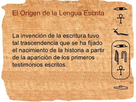 Historia de la Lengua Escritura
