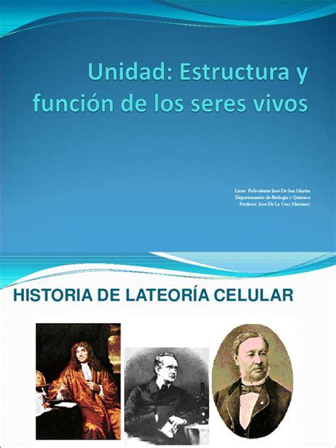 Historia de la Teoria Celular.ppt | Célula  Biología ...