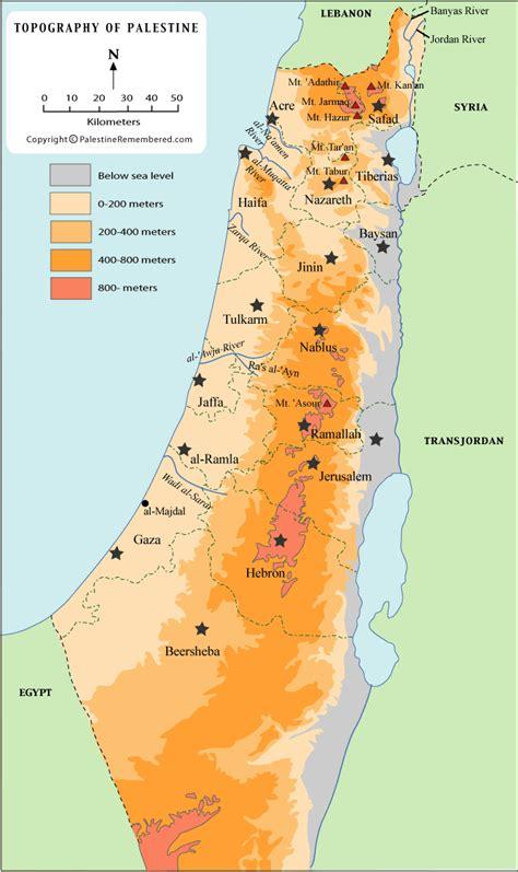 Historia de palestina: Topografia de palestina
