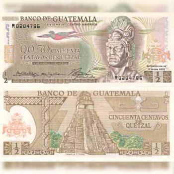 Historia del billete de 50 centavos de quetzal en ...