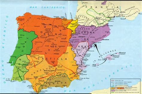 HISTORY OF SPAIN: Map about the third stage of the ...