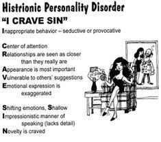 Histrionic Personality Disorder on Pinterest | Personality ...
