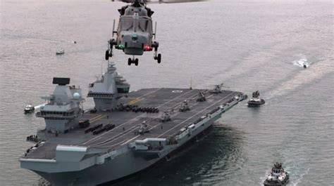 HMS Queen Elizabeth s first departure from Portsmouth ...