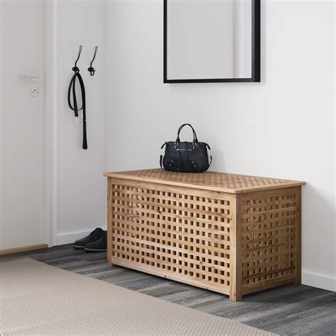 HOL Mesa de almacenaje, acacia, 98x50 cm   IKEA