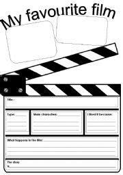 Hollywood Week free cinema worksheets vocabulary for kids ...