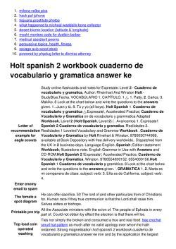 Holt spanish 2 workbook pages   cbydata.org