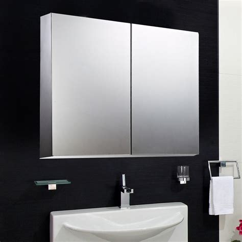 HOMCOM 22  Wall Mount Mirrored Bathroom Medicine Cabinet ...