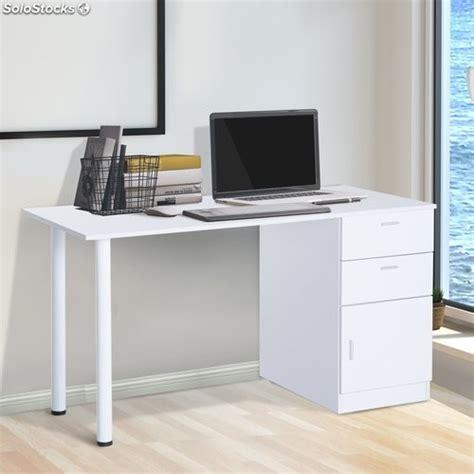 HomCom Mesa de Ordenador PC Escritorio de Oficina Estudio ...
