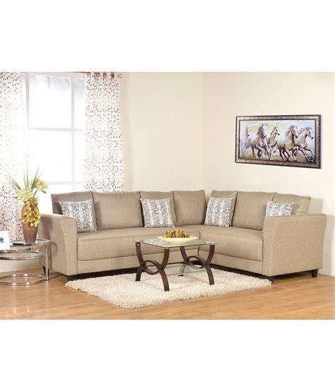@home By Nilkamal Acacia Natural Finish Sofas In   Buy ...
