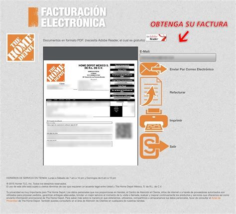 Home Depot Facturación Facturar Ticket   Descargar XML