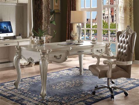 Home Office Writing Desk Bone White 92275 Versailles Acme ...