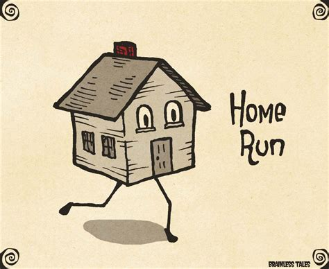 Home Run Visual Pun by Brainless Tales  With images ...