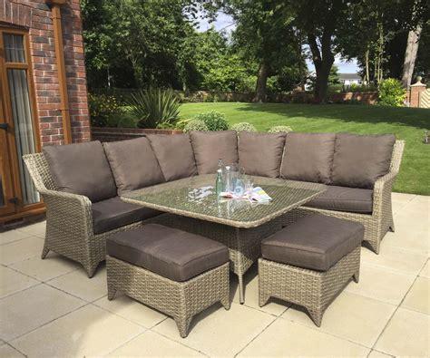 Homeflair Rattan Garden Furniture Sarah weave corner sofa ...