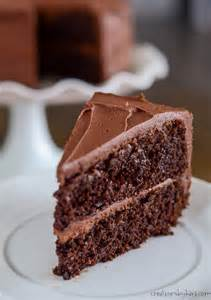 Homemade Chocolate Cake with Chocolate Frosting ...