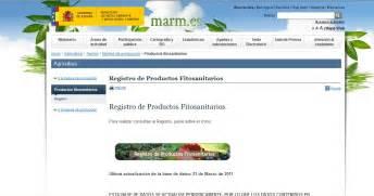 Homo agricola: Actualización registro fitosanitarios web MARM.