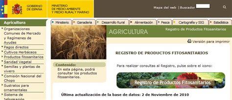 Homo agricola: Actualizado registro productos ...