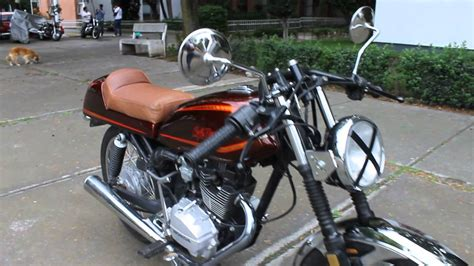 Honda 125cc Cafe Racer   YouTube