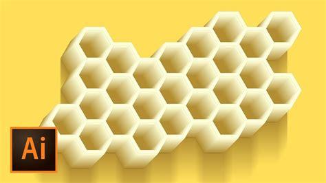 Honeycomb Vector Illustration   Illustrator Tutorial   YouTube