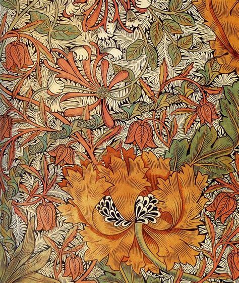 Honeysuckle  textile design by William Morris, produced ...