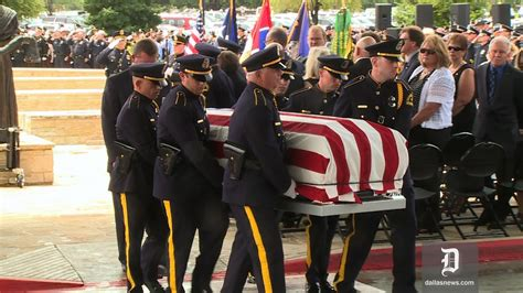 Honor guard ceremony, final radio call given to Officer ...