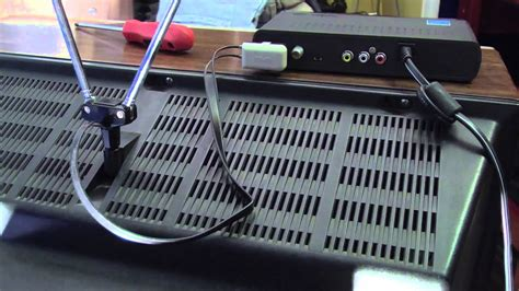 Hooking up a Digital TV Converter Box   YouTube
